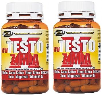 Estimulante de la testosterona natural paquetes NEW TESTO X ZMA 100 cps - 70 gr |