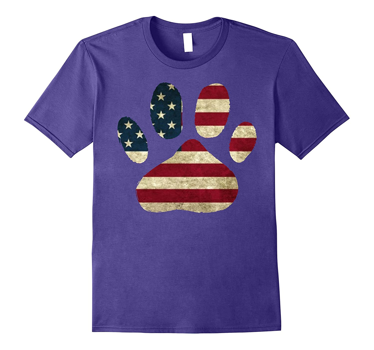 American Flag Fourth July dog T-shirt-PL