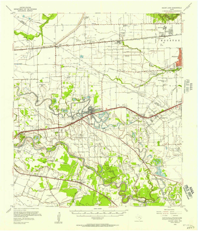 Amazon Com Yellowmaps Sugar Land Tx Topo Map 1 62500 Scale 15 X