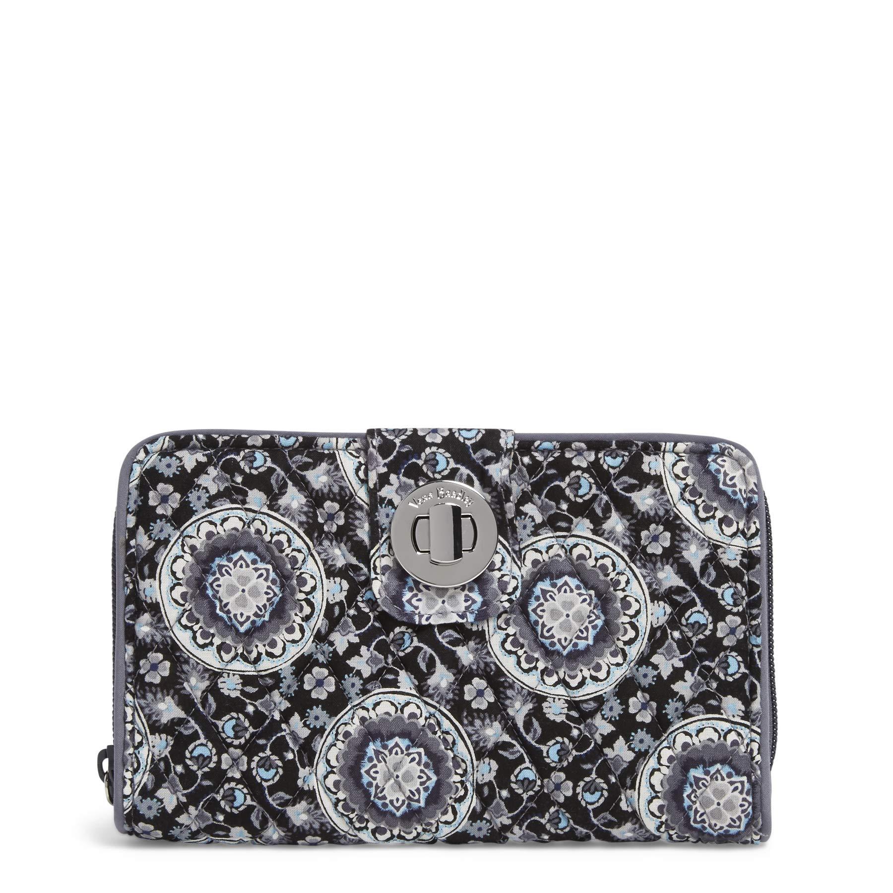 Vera Bradley RFID Turnlock Wallet, Signature Cotton, Charcoal Medallion by Vera Bradley (Image #1)