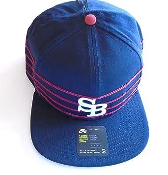 1715f5f9 NIKE SB Skateboarding Icon Pro Stripes Snapback Hat Ramp Up Cap (Navy  Blue/Red/White Logo): Amazon.ca: Sports & Outdoors
