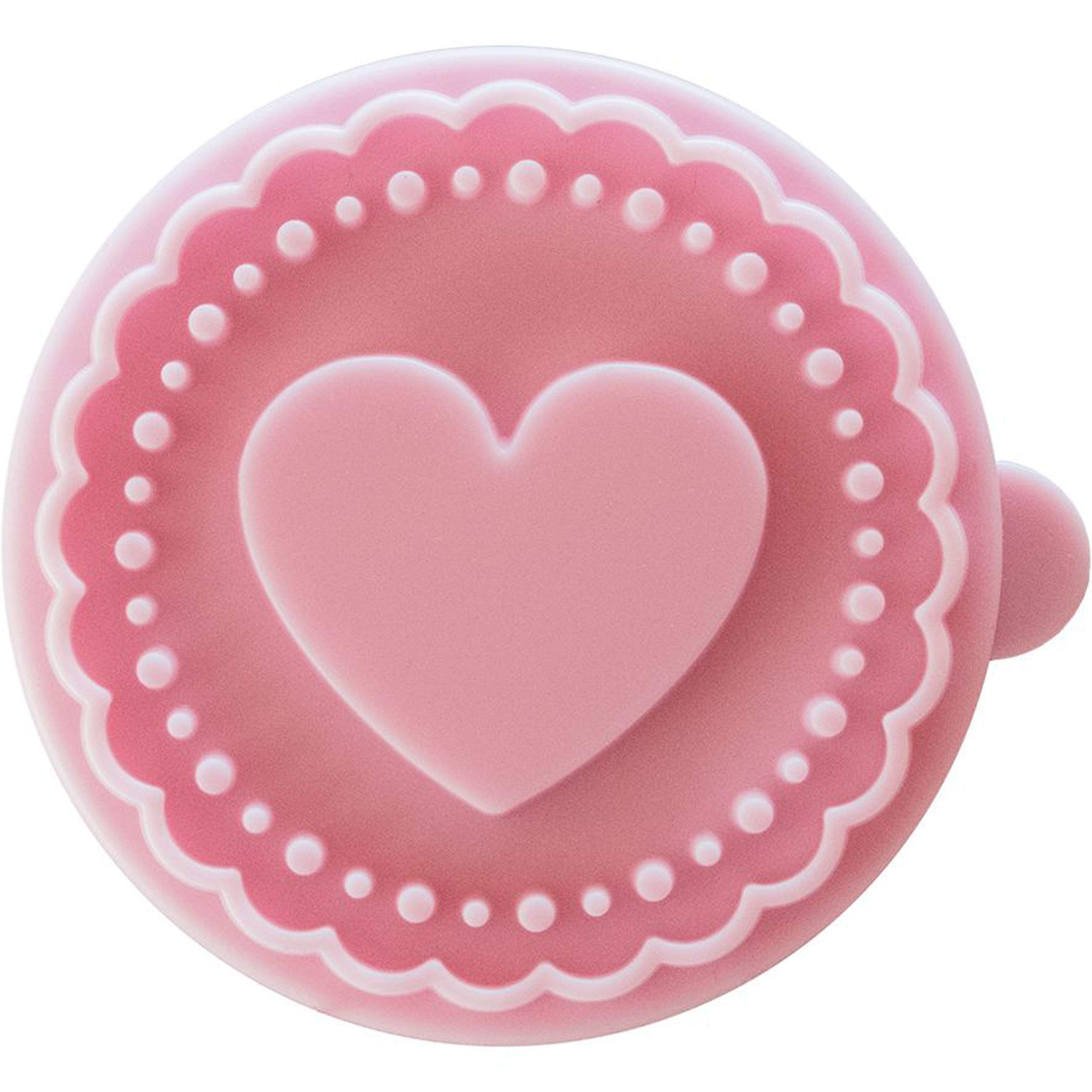 Heart Cookie Stamp - Wooden Handle with Silicone by rbv birkmann (Image #2)