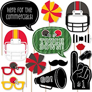 product image for Big Dot of Happiness Super Football Bowl - Party Photo Booth Props Kit - 20 Count
