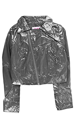 Cristian Lay Fashion House FH437 Gray Zip Up Jacket For Women Shiny Lady Lightweight Coats Chaquetas
