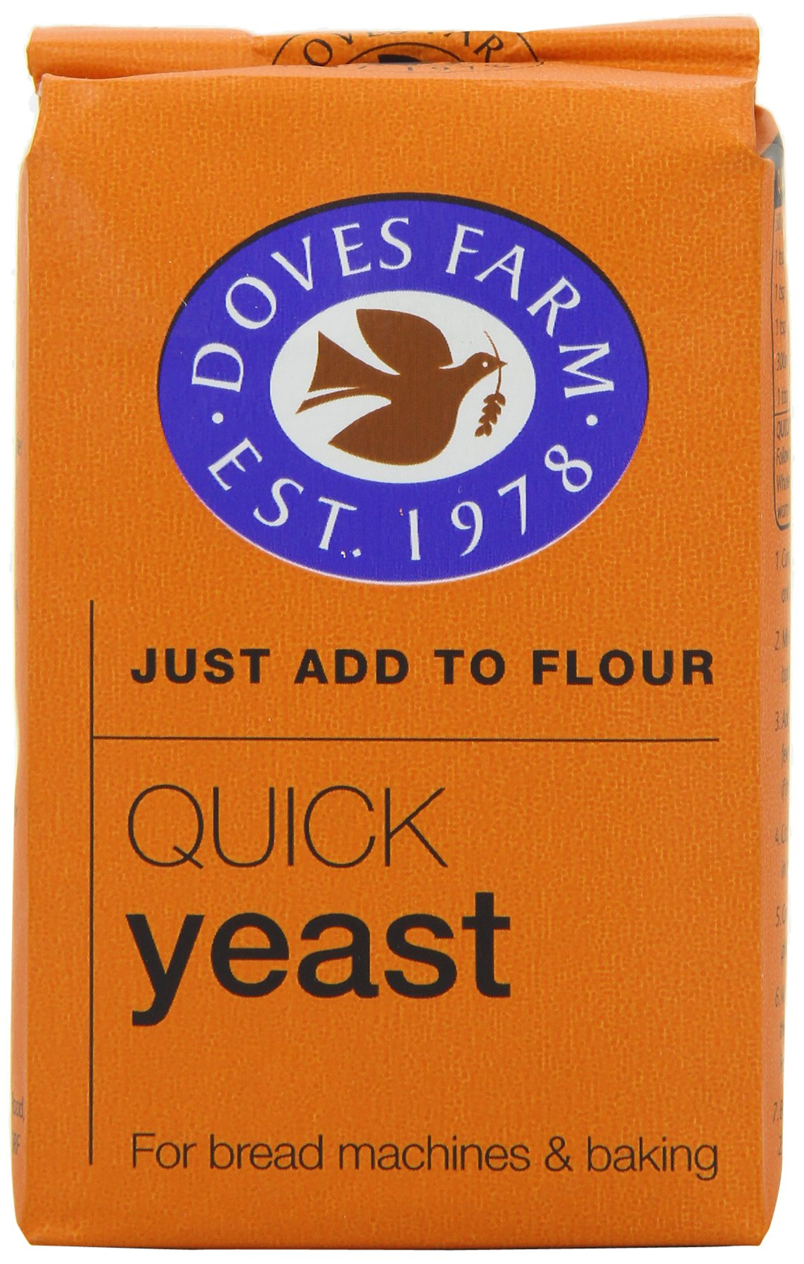 Doves Farm Quick Yeast 125 g (Pack of 8) by Dove