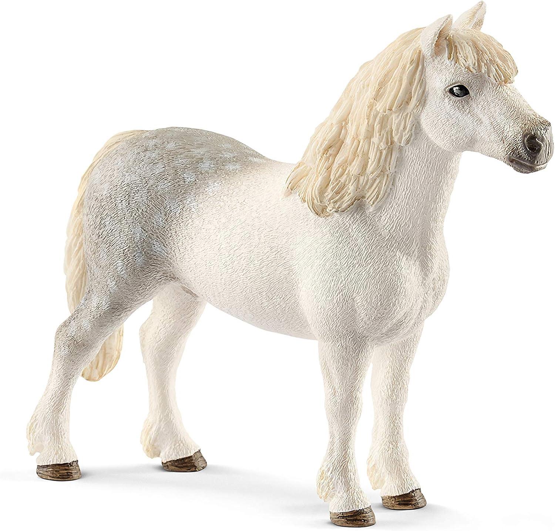 Amazon Com Schleich Farm World Welsh Pony Stallion Educational Figurine For Kids Ages 3 8 Schleich Toys Games