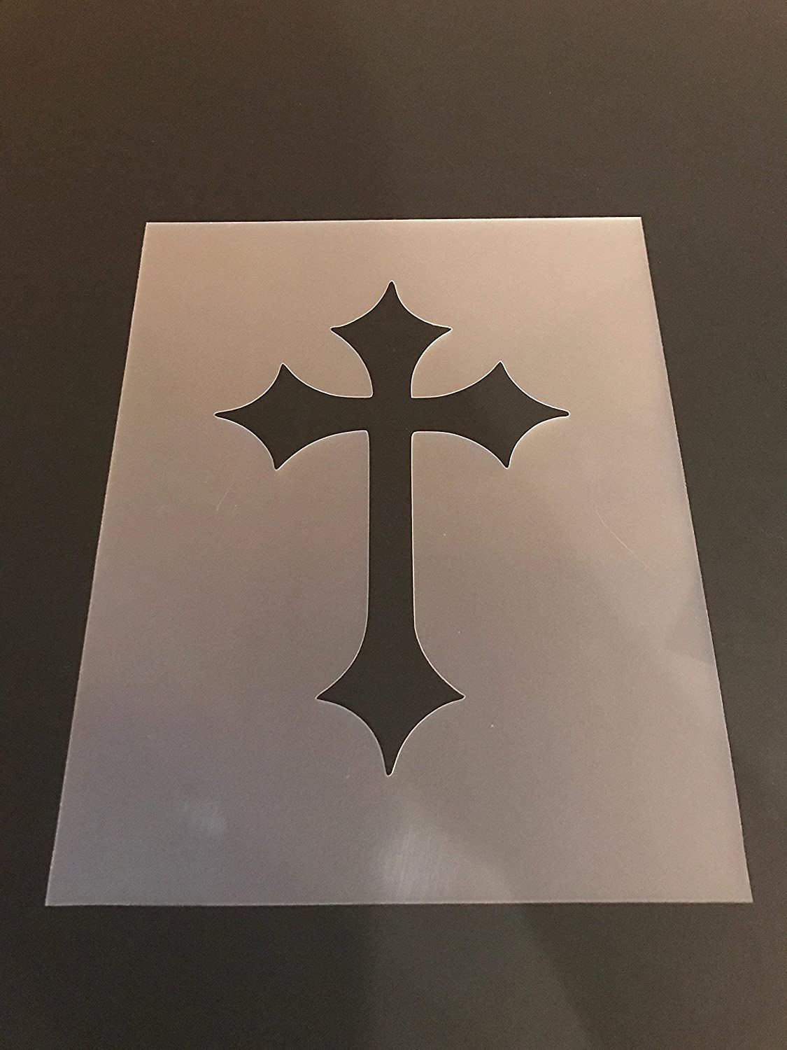 Cross Stencil #5 Reusable 10 mil Thick 8in x 10.5in sheet