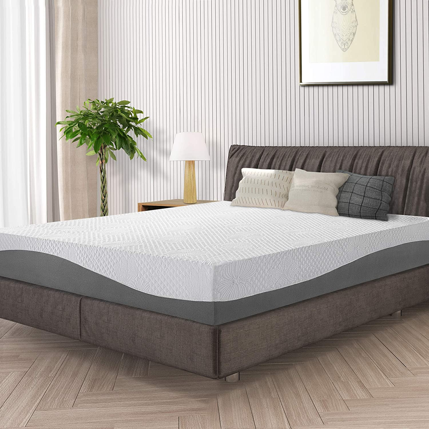 Olee Sleep 10 in Aquarius MemoryFoam Mattress Twin 10FM02T