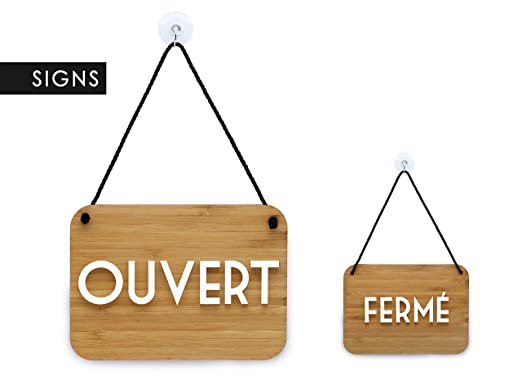 3DP Signs | Retrò Vintage - Ouvert/Fermé - Cartel Doble Cara ...