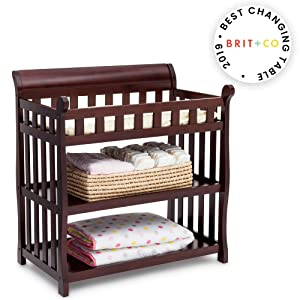 Delta Children Eclipse Changing Table, Dark Chocolate