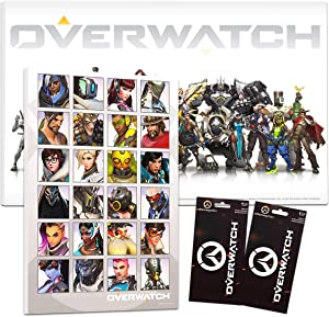 "Overwatch Poster Set ~ Bundle Includes 2 Overwatch Mounted Prints (8""x11""x.2"") with 2 Overwatch Decal Stickers (Overwatch Wall Art Room Decor Office Decorations)"