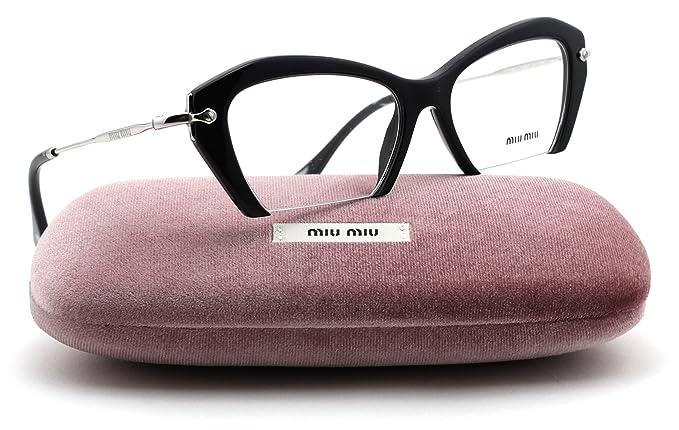 e4071f516db Miu Miu MU 03OV Rasoir Collection Women Eyeglasses ( Black Frame 1AB ...