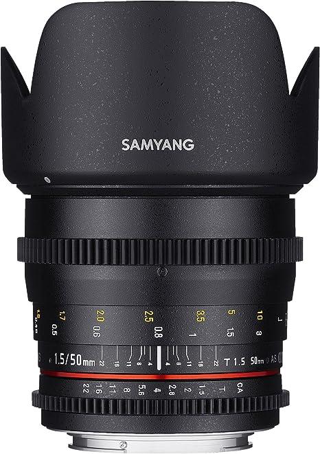 Samyang F1311101101 - Objetivo para vídeo VDSLR para Canon EF ...