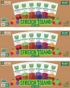 Stretch Island Fruit Leather Snacks Variety Pack, 0.5 Ounce, Pack of 48, -3 Pack