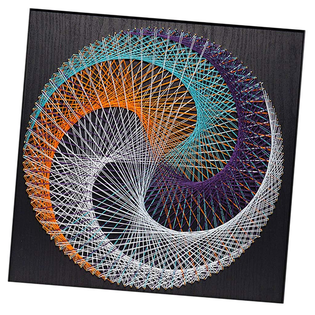 Geometric D Figure kesoto String Art Kits with Wood Borad for Childern Adults DIY Gifts