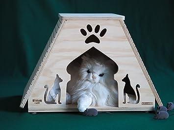 Novedad Blitzen, caseta para gatos indoor con paredes tiragraffi Dubai Talla XL, termoregolata profesional