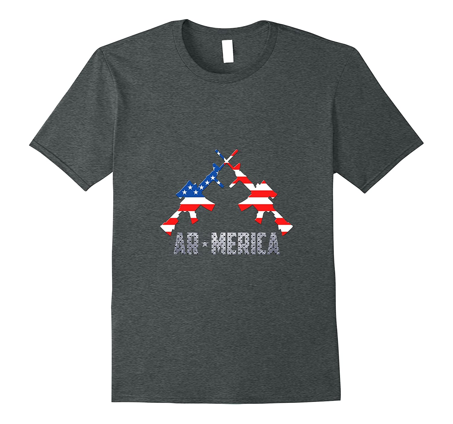AR-Merica AR15 USA Flag Patriot Guns Second Amendment Shirt-PL