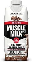 Muscle Milk Genuine Protein Shake, Chocolate, 25g Protein, 11 FL OZ, 12 Count