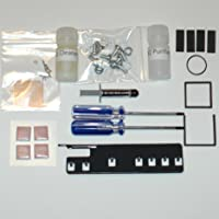XBOX 360 Repair Kit - 3 Red Light Fix - X-Clamp Replacement - Complete Kit - Arctic Silver 5, GPU CPU Shims, DVD Drive Belt, DVD Drive Pads, Extra Strong Powdercoated Open Tool, RAM Pads, Southbridge Xclamp Fix