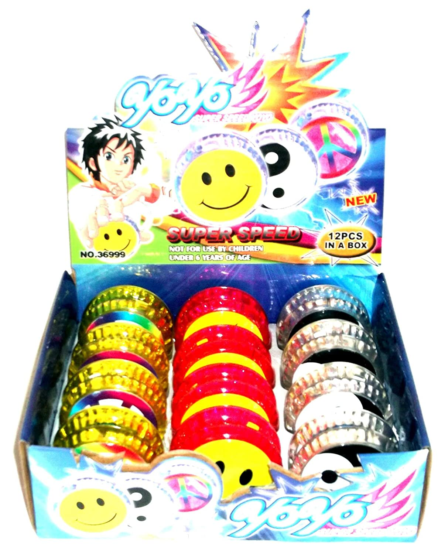 12 LED Kinder Speed Licht Leucht Yoyo Jojo Yojo Yoyos Geburtstage Fete Spielzeug