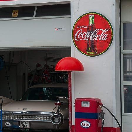 Amazon.com: Coca Cola - Cartel redondo de metal rojo de 40 ...