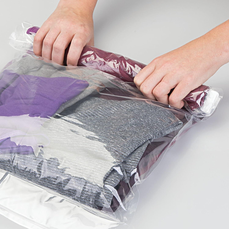 InterDesign 4 Piece Travel Storage Bags, Clear