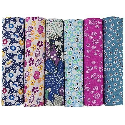 6 unidades 50 x 50 cm Plástico paquetes Patchwork sustancias algodón toalla DIY hecha a mano