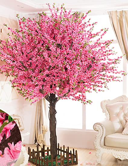 Amazon Com Vicwin One Gorgeous Artificial Cherry Blossom Trees