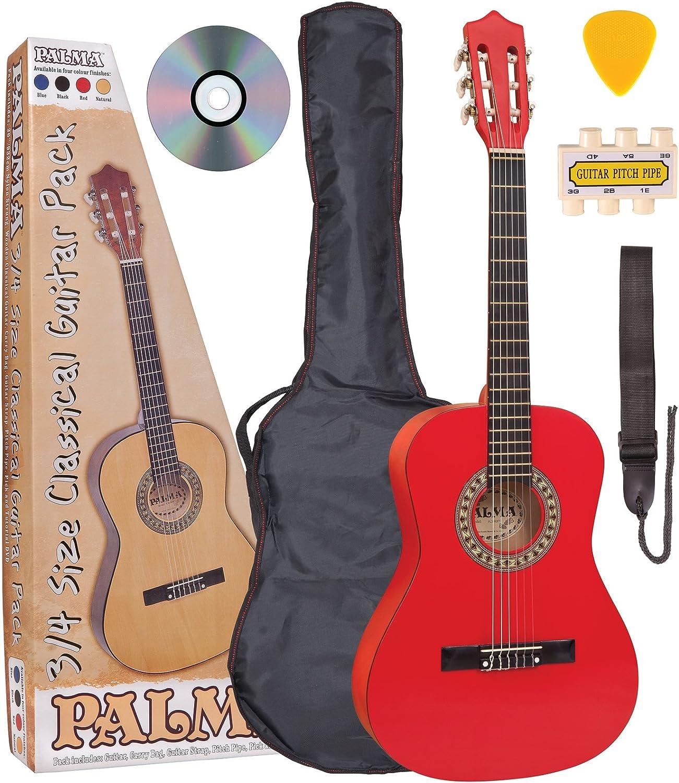Palma PL34ROFT - Set de guitarra de concierto de 3/4 (funda ...