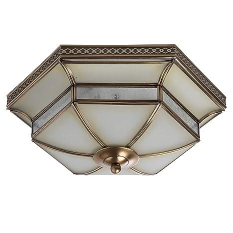 Lámpara de techo, plafón de techo, estilo Tiffany, rústico ...