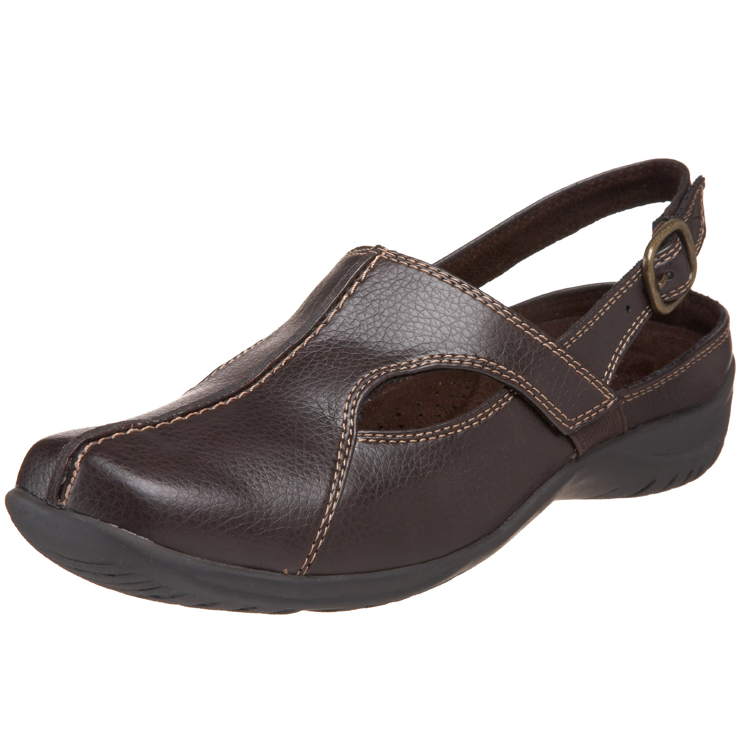 Easy Street Women's Sportster Slingback Mule,Brown,9.5 WW US