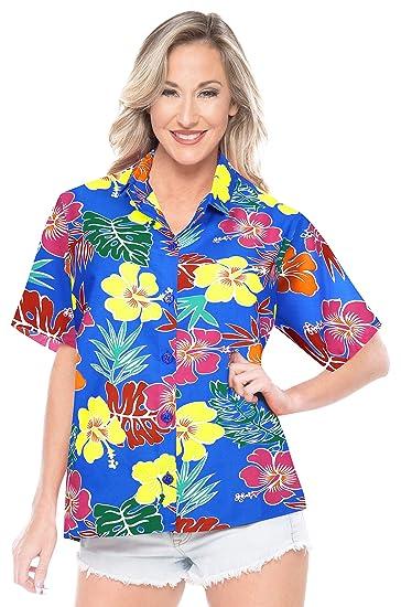 LA LEELA las Mujeres Hawaiano botón de Camisa del Traje baño ...