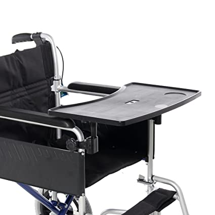 Taza de silla de ruedas bandeja de servicio con soporte