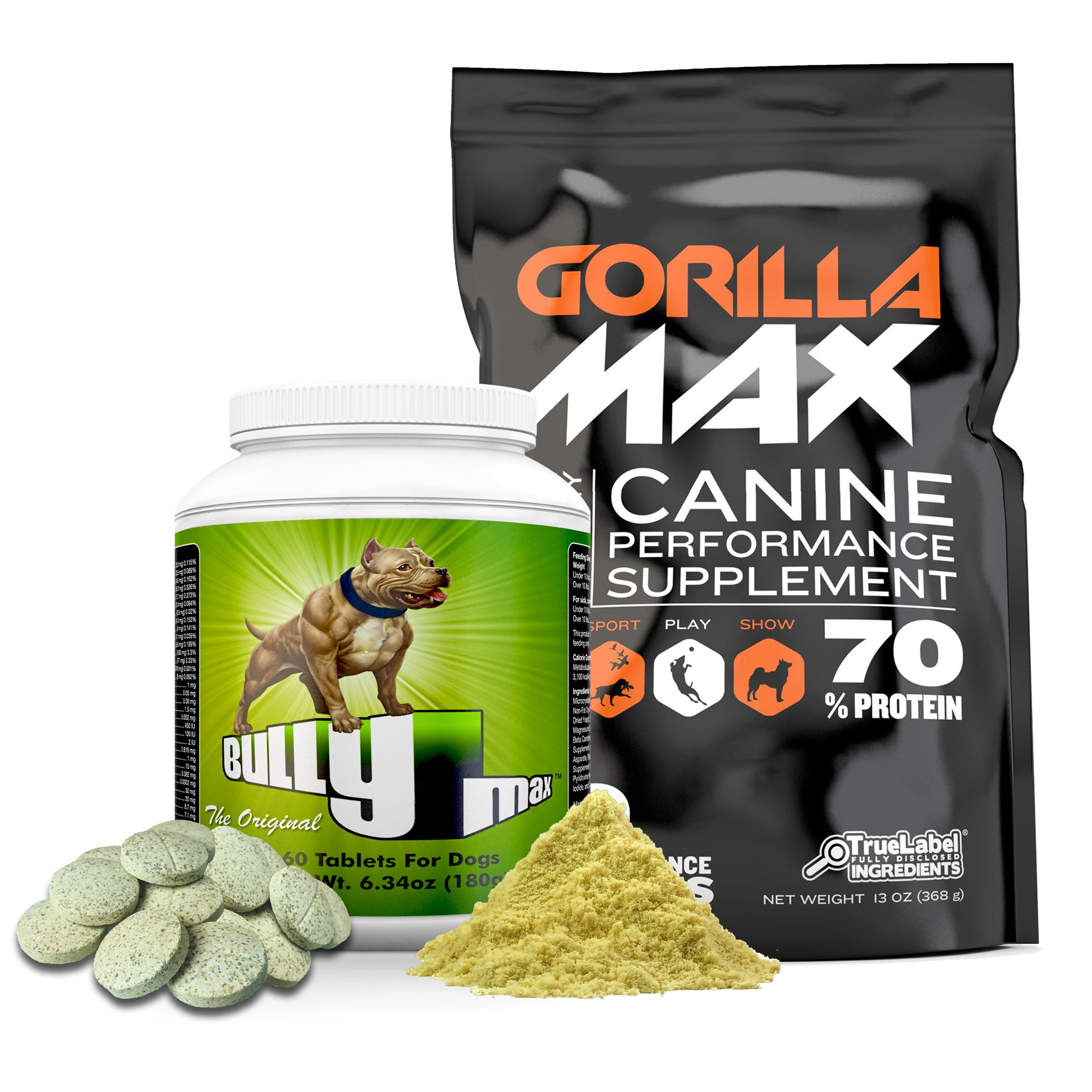 Bully Max Dog Muscle Supplement (Bully Max & Gorilla Max Combo)