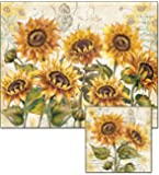 CounterArt Tuscan Sunflower Glass Cutting Board and Trivet Set