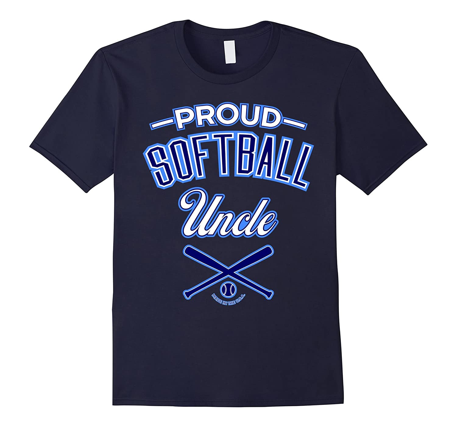 Mens Proud Softball Uncle T-Shirt-TD