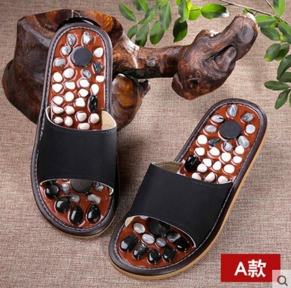 JIA HONG Yi Fu Lai Pantofole Massaggianti Morbide Suola Naturale Pebble  Uomo E Donna Pedale Sole Suola Morbida Suola Morbida ad719ed2de3