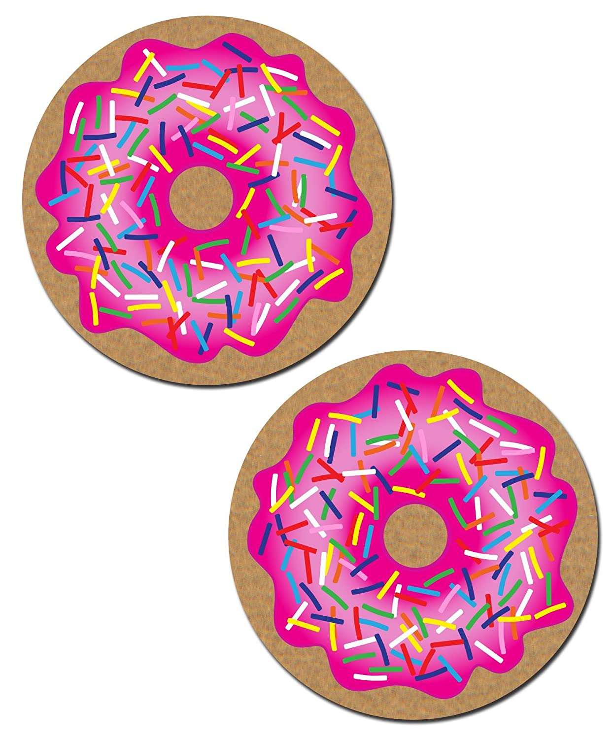 Pastease Women's Donut with Pink Frosting and Rainbow Sprinkles Nipple Pasties o/s DNT-PK