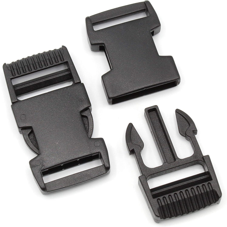 HEAVYTOOL/® Steckverschluss Klippverschluss Klickverschluss 10 St/ück Steckschnalle 15mm Schwarz gebogen Typ G POM Acetal