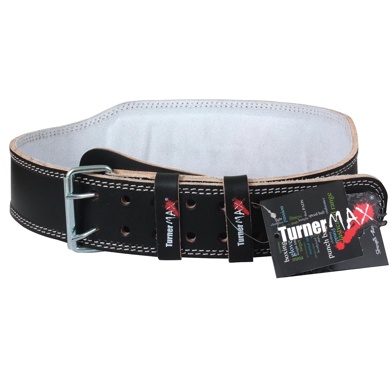 Cintur/ón acolchado para levantar pesas piel TurnerMAX