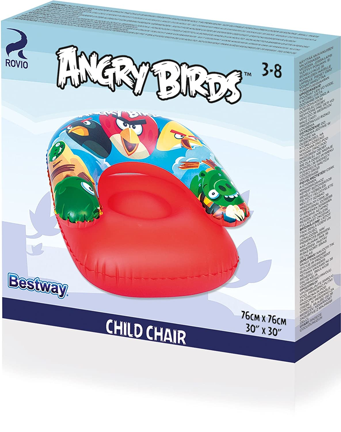 Amazon.com: Angry Birds – Sillón infantil hinchable: Toys ...