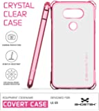 LG G5 Case, Ghostek Covert Series for LG G5 Premium Impact Slim Hybrid Protective Armor Case Cover | Clear TPU Exchange | Explosion-Proof Screen Protector | Ultra Fit (Rose Pink)