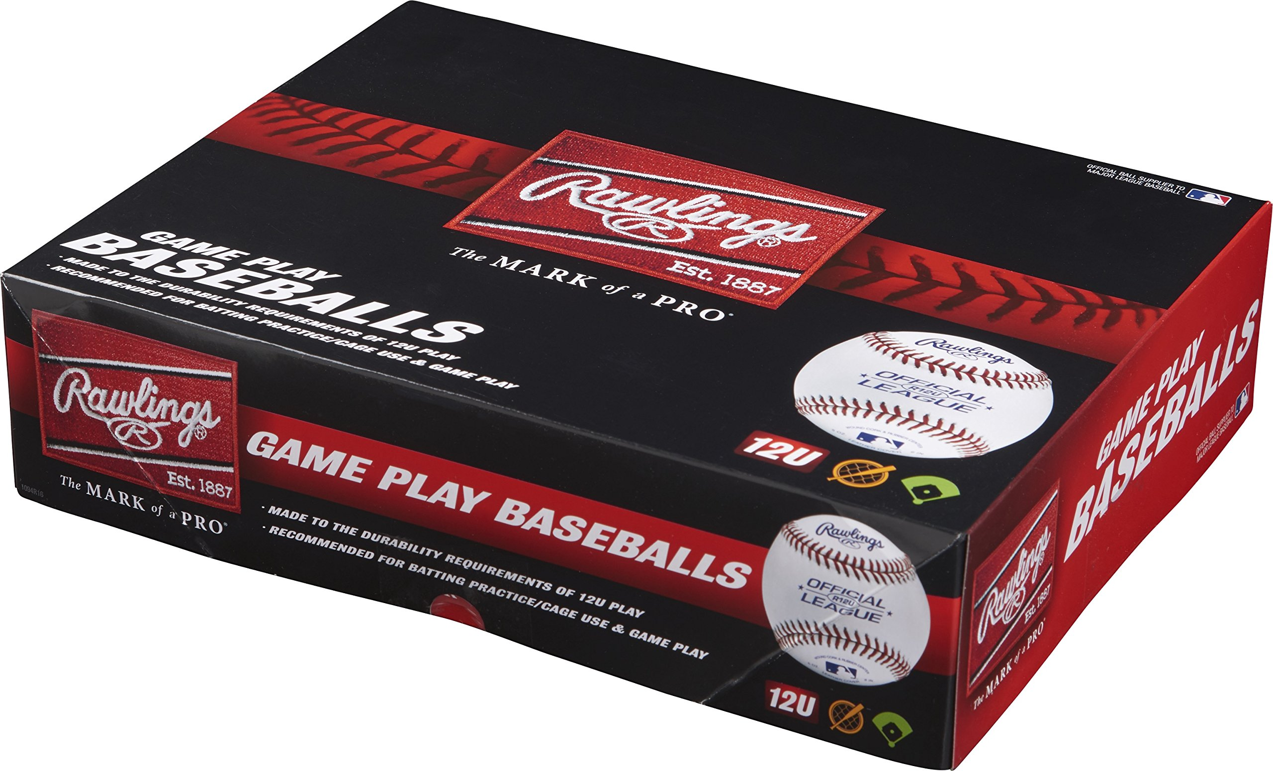 Rawlings 12U Youth Baseballs, (Box of 12), R12U-TPK12