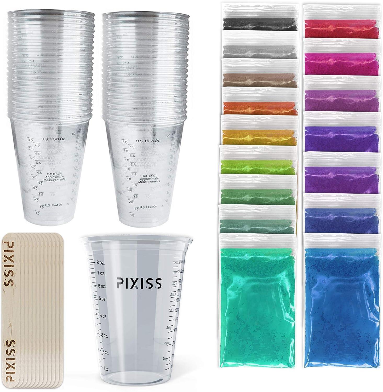 Pack 20 vasos descartables para resina, pigmentos y palitos
