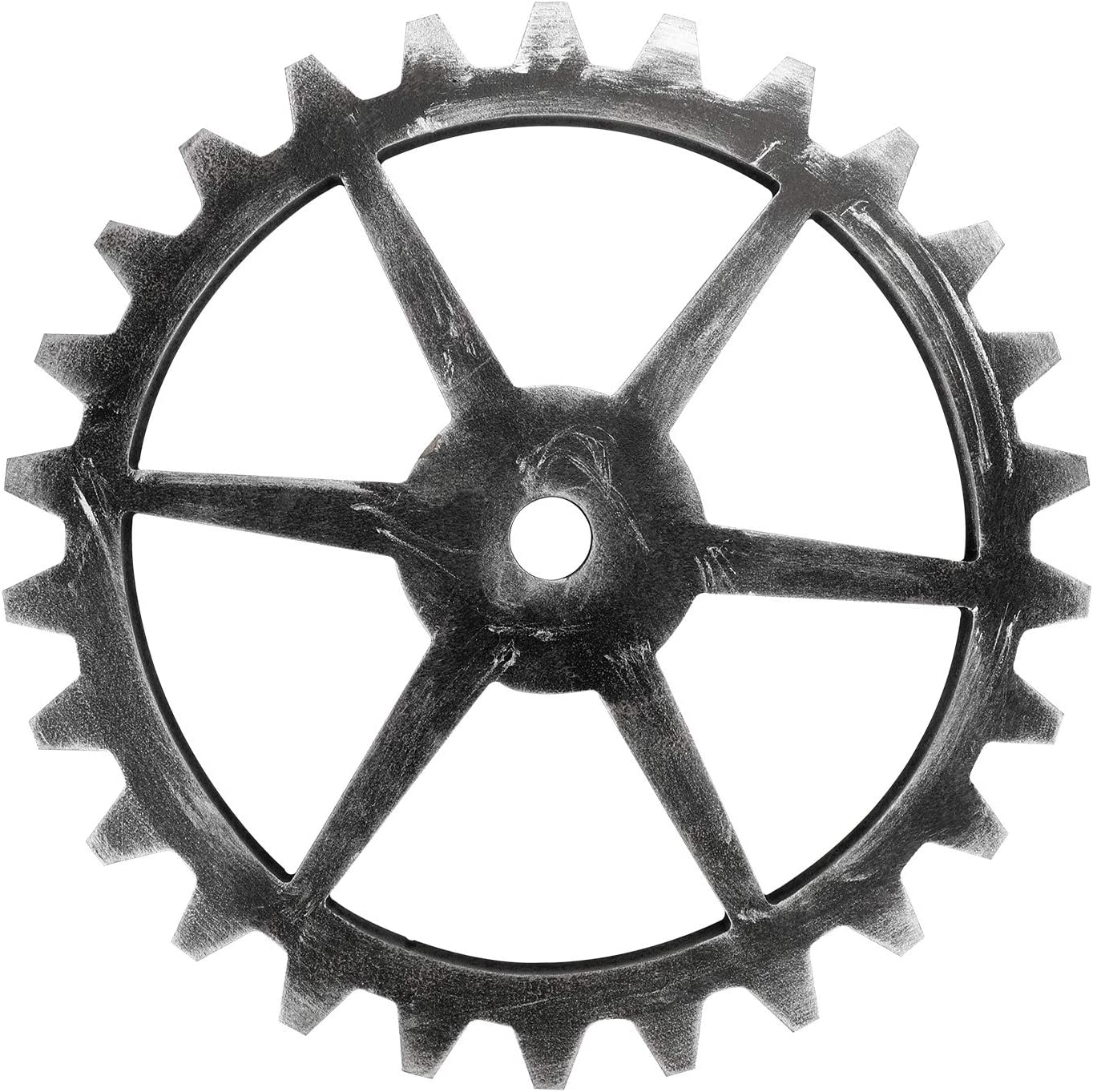 Sumnacon 11.6 Inch Industrial Steampunk Style Gear Wheel Wall Decoration, Vintage Gear Wheel Art Craft Wall Decor for Home Bar Office Hotel Cafe Resturant, Hexagon