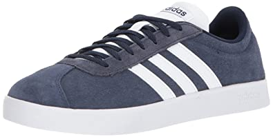 best website 3cb40 2c233 adidas Performance Mens VL Court 2.0 Sneaker, Collegiate NavyWhiteWhite,  ...