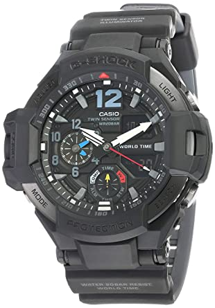 c3638fc59649 Amazon.com  Men s Casio G-Shock Master of G Gravitymaster Black Watch  GA1100-1A1  Watches