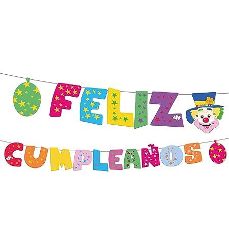 EuroFiestas Guirnalda Letras Feliz cumpleaños Payaso: Amazon ...