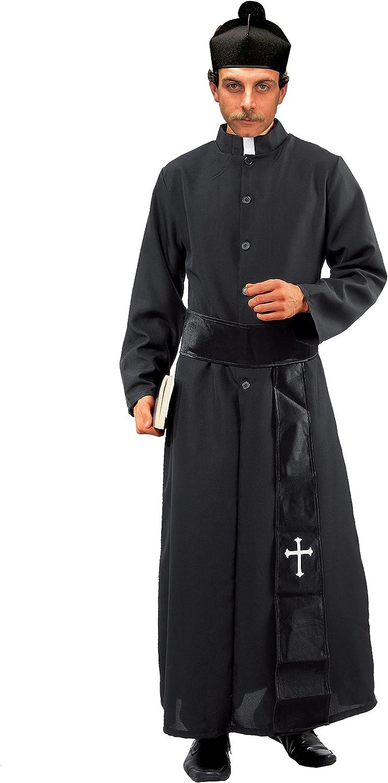 Ciao - Disfraz de sacerdote, talla L, negro, 16840 XXL Negro ...
