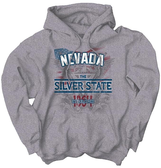 Nevada State American Eagle EE. UU. T Shirt patriótica Ideas de regalo sudadera con capucha sudadera - Gris - : Amazon.es: Ropa y accesorios